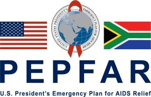 PEPFAR SA Flag logo w_ blue letters white background Southern Africa YOuth Project