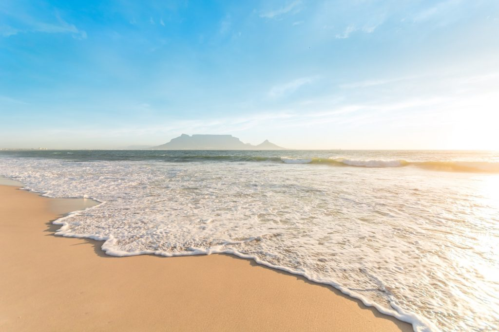 Cape Town Beach and Waves.